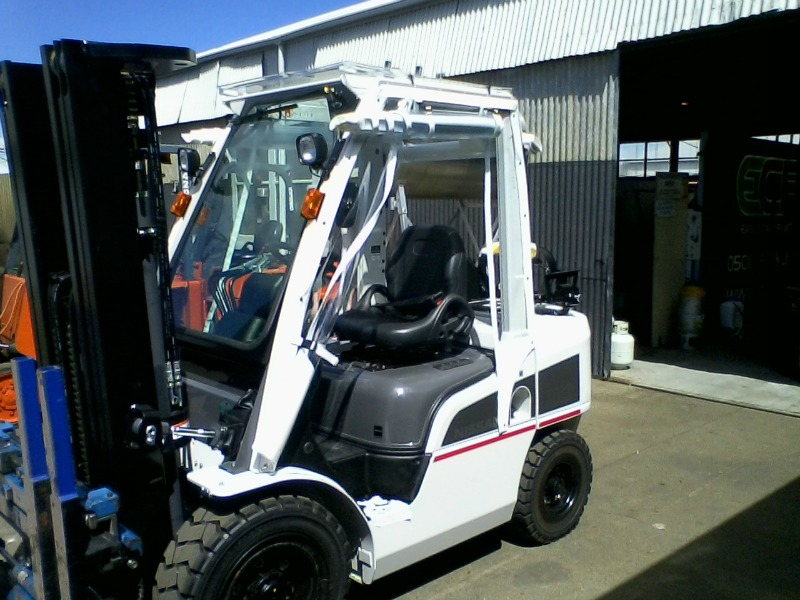 forklift clears douglas outdoor living and auto marine