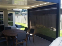 Louvre roof with outdoor screen Hawkes Bay