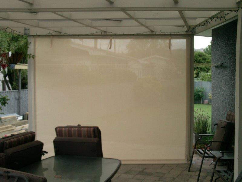 Manual Amp Roll Up Outdoor Screens Cafe Blinds Hawkes Bay