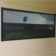 Ziptrak mesh curtain