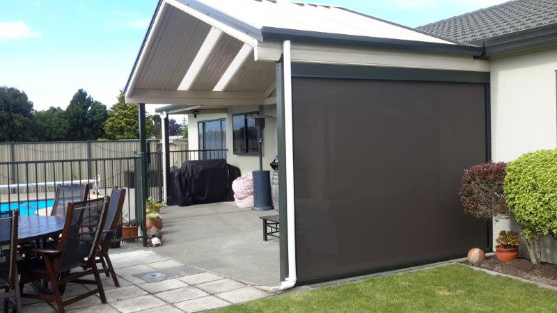 Outdoor Ziptrak Screens For Weather Protection Hawkes Bay