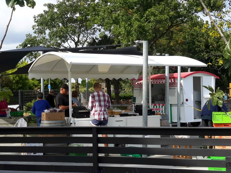 Waterproof shade canopy for The Fruit Shop & Waterproof Shade Canopy for The Fruit Shop | Hawkes Bay